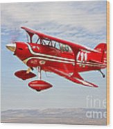 A Pitts Special S-2a Aerobatic Biplane Wood Print
