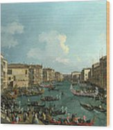 A Regatta On The Grand Canal Wood Print