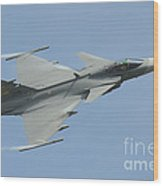 A Saab Jas 39 Gripen C Of The Royal Wood Print