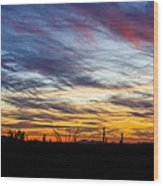 A Silhouette Sunset  Wood Print