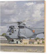 A Spanish Navy Sh-3d Helicopter Wood Print