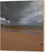 A Storm Brewing Over Nai Yang Beach Phuket Island Thailand Wood Print