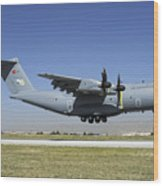 A Turkish Air Force A400m Landing Wood Print