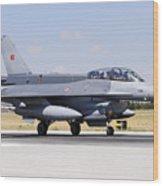 A Turkish Air Force F-16d Block50+ Wood Print