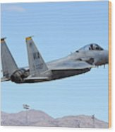A U.s. Air Force F-15c Eagle Taking Wood Print