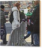 A View Of Some People Enjoying The 2009 New York St. Patrick Day Wood Print