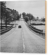 A69 Road On The Border Of Cumbria And Northumberland Uk Wood Print