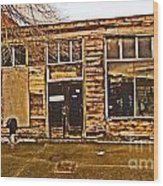 Abandoned Building Wood Print