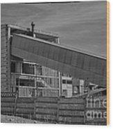 Abandoned Factory At Vadu Wood Print