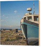 Abandoned Fishing Boat Digital Painting Wood Print by Matthew Gibson