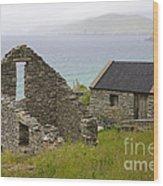 Abandoned Stone House, Slea Head Wood Print