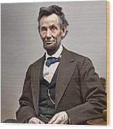 Abe Lincoln President Wood Print