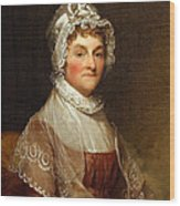 Abigail Smith Adams By Gilbert Stuart Wood Print