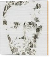 Abraham Lincoln Paint Drops Wood Print