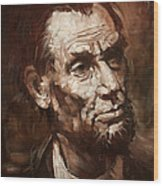 Abraham Lincoln Wood Print