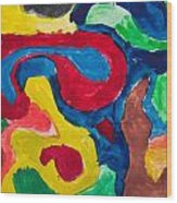 Abstract Colorful Painting Wood Print