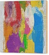 Abstract Colors Wood Print