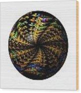 Abstract Globe Wood Print
