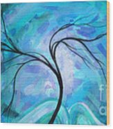 Abstract Landscape Painting Digital Texture Art By Megan Duncanson Wood Print