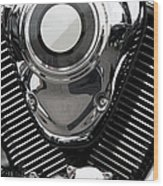 Abstract Motorcycle Engine Wood Print