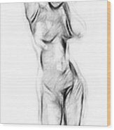 Abstract Nude Wood Print by Steve K