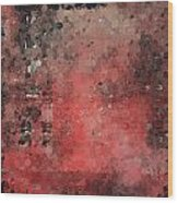 Abstract Red Digital Print Wood Print