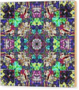 Abstract Symmetry Of Colors Wood Print