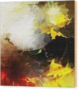 Abstract Under Glass Wood Print