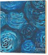 Abstract Watercolour Painting Wood Print