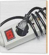 Ac Power Plug And Sockets Wood Print