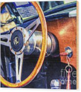 Ac Shelby Cobra Oil Painting Wood Print