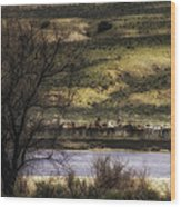 Across The River Wood Print