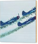 Action In The Sky During An Airshow Wood Print