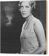 Actress Helen Hayes Wood Print