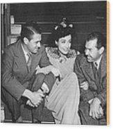 Actress Joan Crawford Wood Print