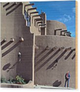 Adobe Architecture In Santa Fe Wood Print