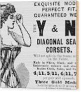 Advertisement Corset Wood Print