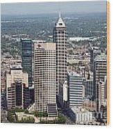 Aerial Of Downtown Indianapolis Indiana Wood Print