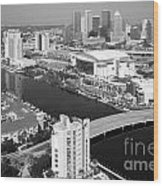 Aerial Of Downtown Tampa And Harbour Island Wood Print