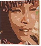 African Native Wood Print