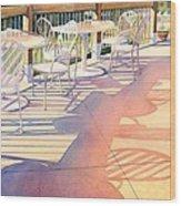 Afternoon Shadows At Les Bourgeois Wood Print