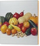 Agriculture - Autumn Fruits Wood Print
