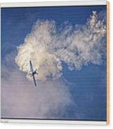 Air Show Selfridge Havilland Super Chipmunk Wood Print