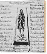 Albrecht Von Wallenstein (1583-1634) Wood Print