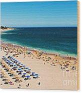 Albufeira Beach Wood Print