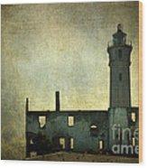 Alcatraz Island Lighthouse Wood Print
