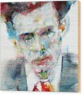 Aldous Huxley - Watercolor Portrait Wood Print