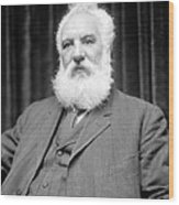 Alexander G. Bell, Scottish-us Inventor Wood Print by Science Photo Library