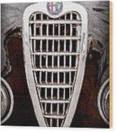 Alfa Romeo Milano Grille Emblem Wood Print