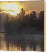 Algonquin Sunrise Wood Print
